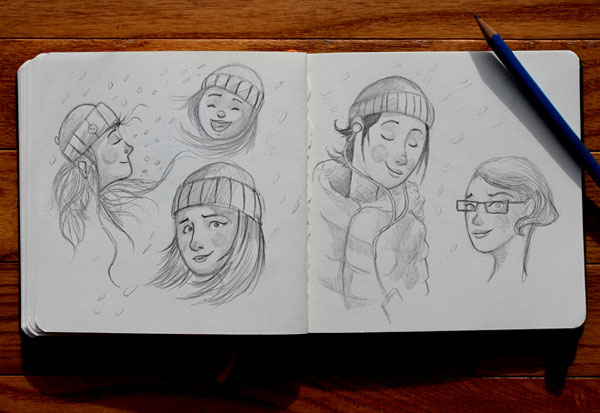 Some sketches of girls