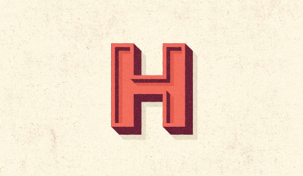 The letter 'H'