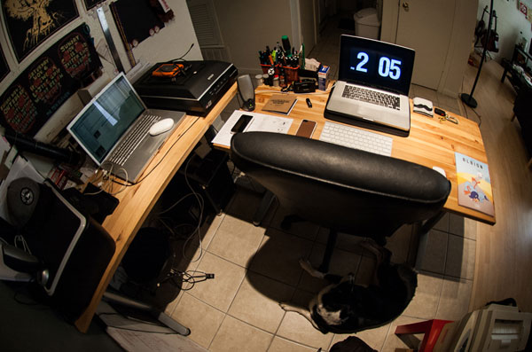 Matt's workspace