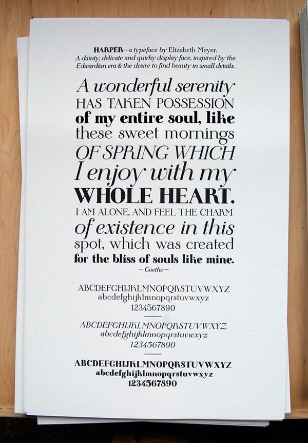 Harper Typeface - Liz Meyer Interview