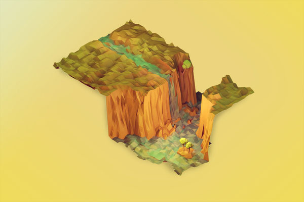 Low-Poly Waterfall - Timothy J. Reynolds Interview